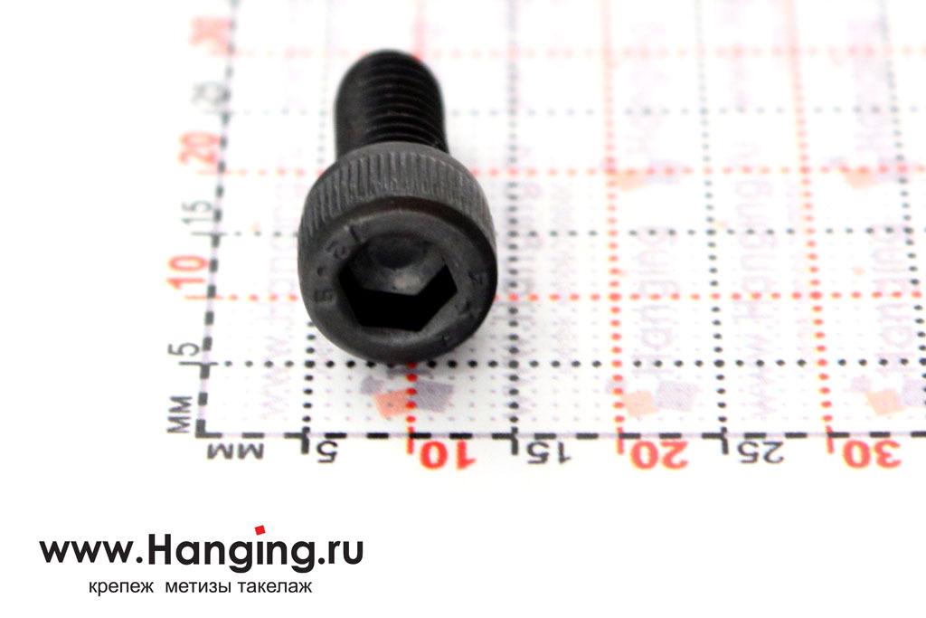 Головка винта М6х14 с внутренним шестигранником, без покрытия, класс прочности 12.9, DIN 912