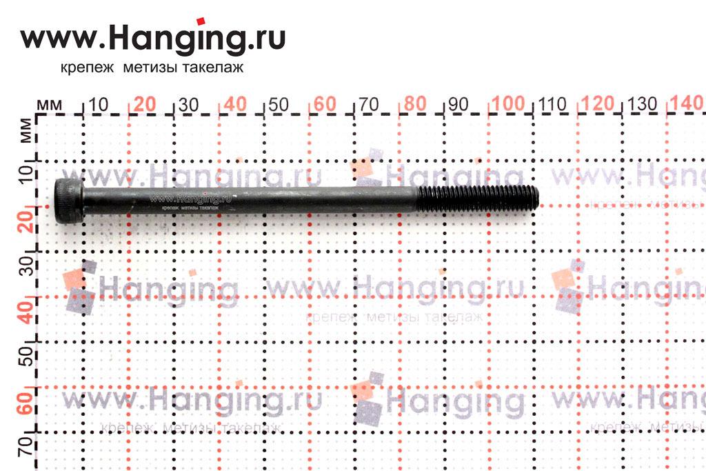 Размеры винта М6х100 с внутренним шестигранником, без покрытия, кл. пр. 12.9, DIN 912