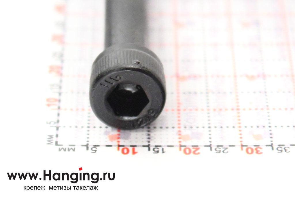 Головка винта М8х70 с внутренним шестигранником, без покрытия, класс прочности 12.9, DIN 912