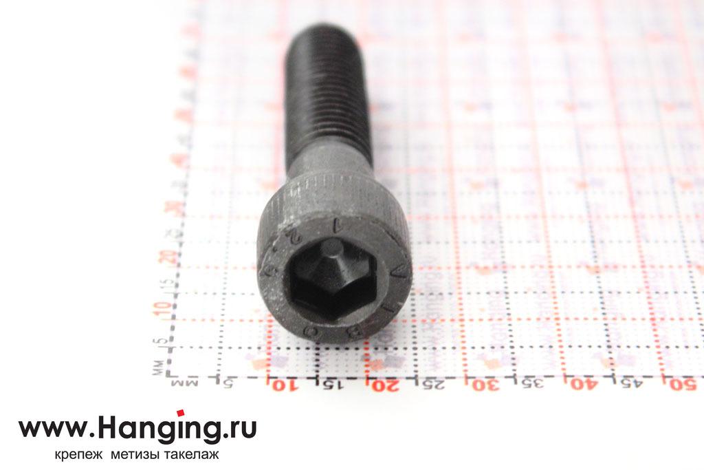Головка винта М10х45 с внутренним шестигранником, без покрытия, класс прочности 12.9, DIN 912