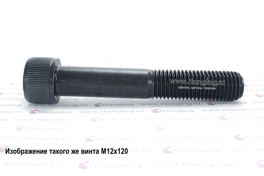 Винт М14х120 с внутренним шестигранником, без покрытия, кл. пр. 12.9, DIN 912