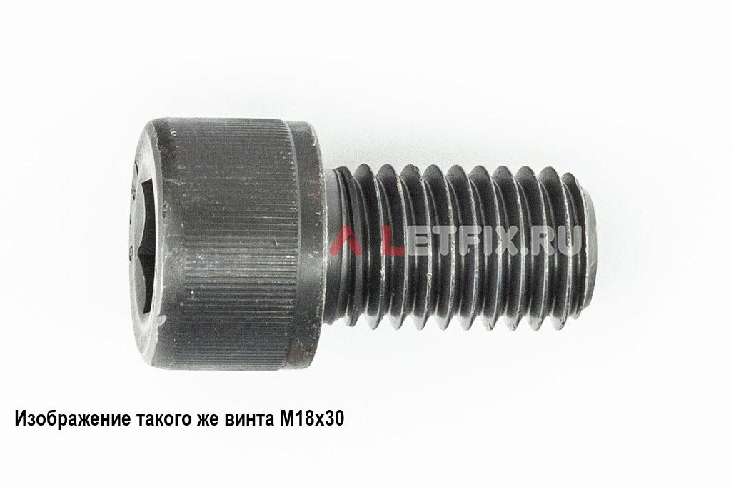 Винт М18х40 с внутренним шестигранником, без покрытия, кл. пр. 12.9, DIN 912