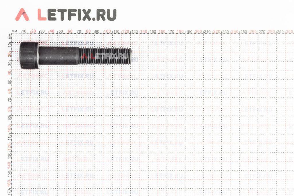 Размеры винта М20х100 с внутренним шестигранником, без покрытия, кл. пр. 12.9, DIN 912