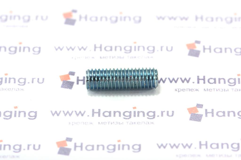 Винт М5х16 установочный с внутренним шестигранником из углеродистой стали оцинкованный DIN 913