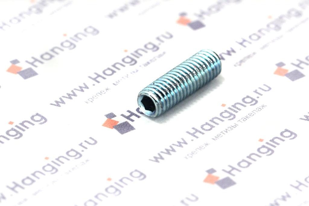 Винты М5х16 установочные ГОСТ 11074-93 с внутренним шестигранником из углеродистой стали оцинкованный