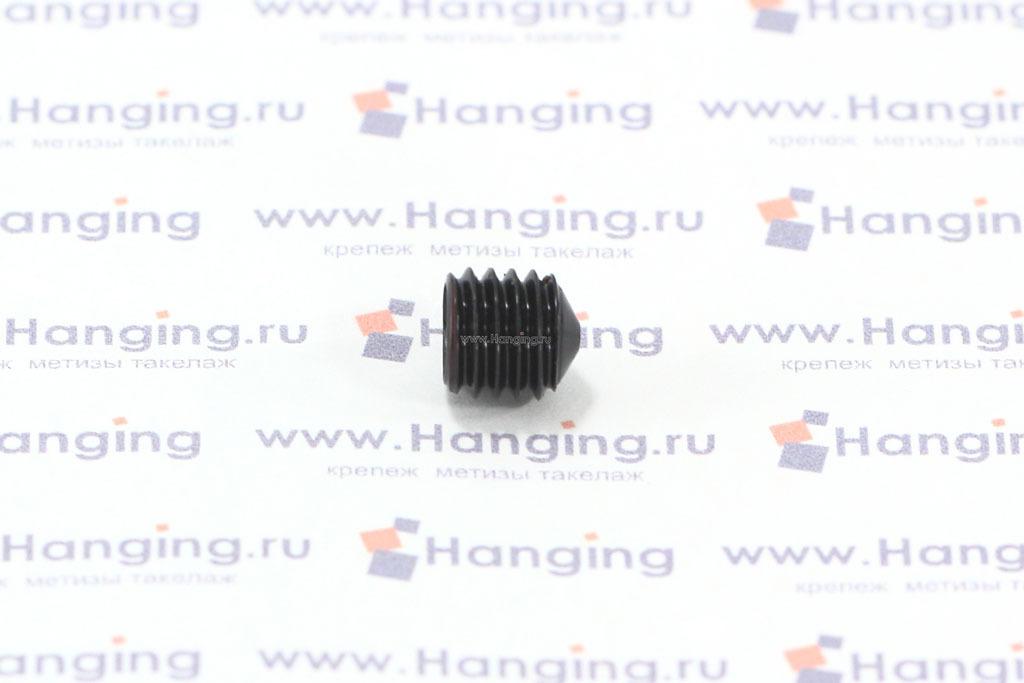 Винт М8х8 с шестигранником и конусом неоцинкованный DIN 914
