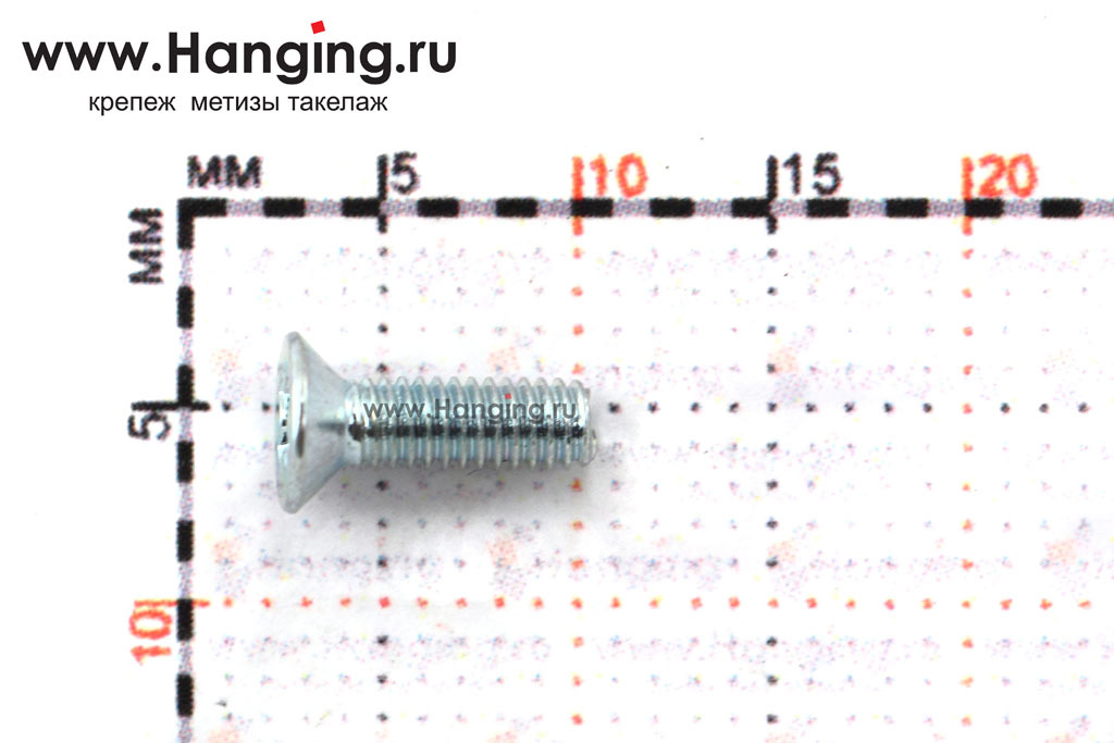 Размеры винта DIN 965 М2,5х8