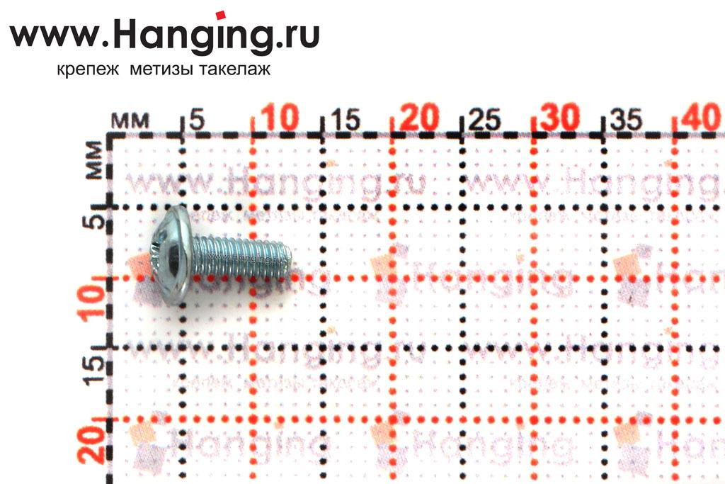 Размеры винта DIN 967 М3х8 оцинкованного