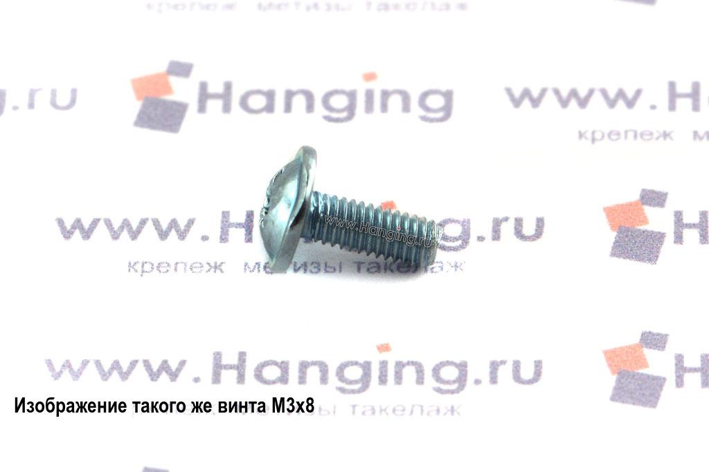 Оцинкованный винт DIN 967 М3х10 с полукруглой головкой с прессшайбой