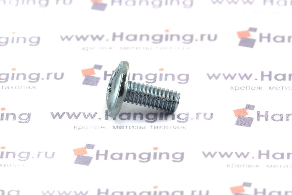 Оцинкованный винт DIN 967 М4х10 с полукруглой головкой с прессшайбой