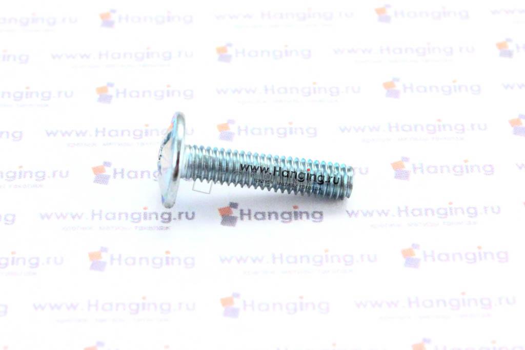 Оцинкованный винт DIN 967 М4х16 с полукруглой головкой с прессшайбой