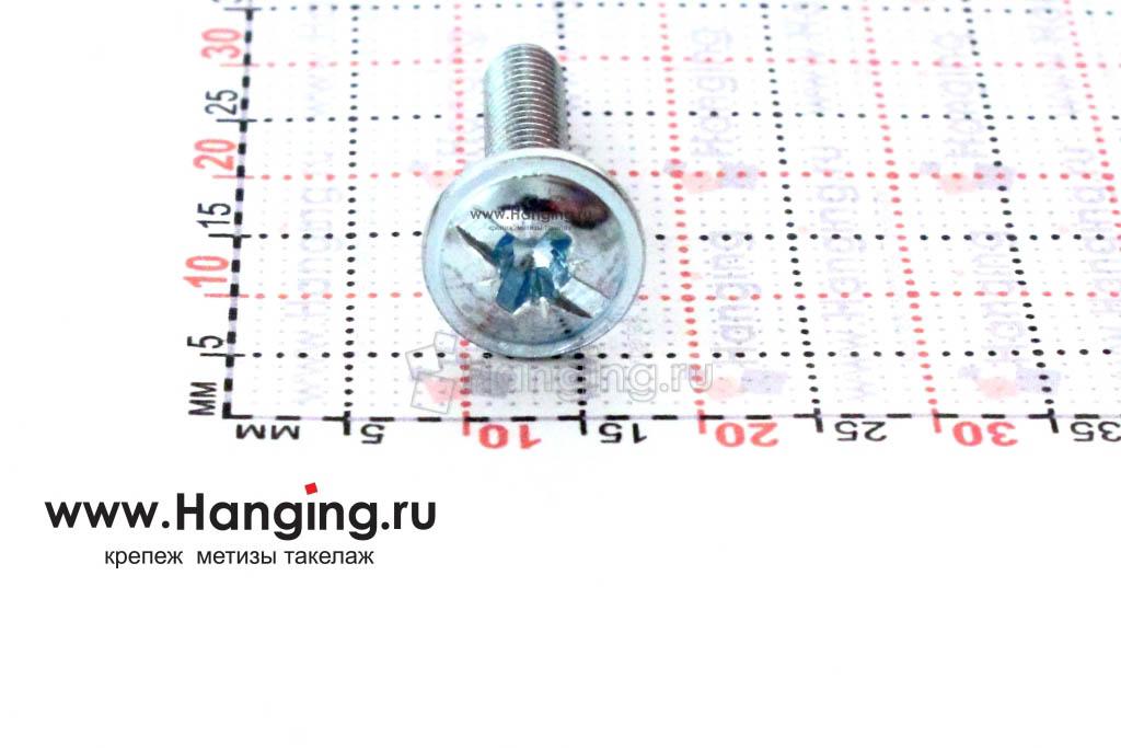 Головка с пресс-шайбой винта DIN 967 4*20