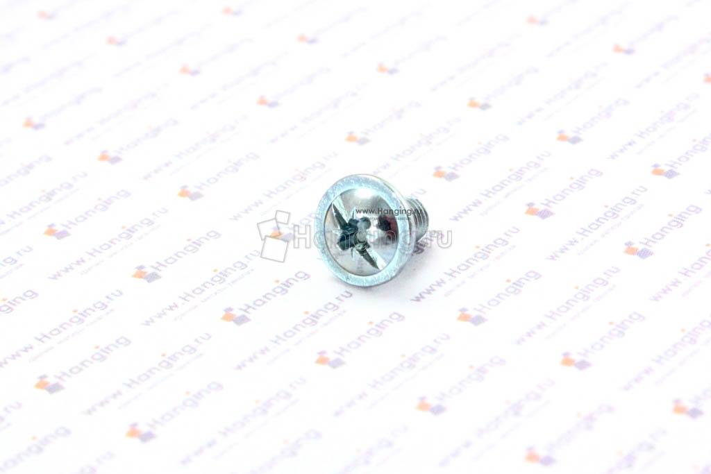 Винт с полукруглой головкой и пресс-шайбой М5х8 DIN 967