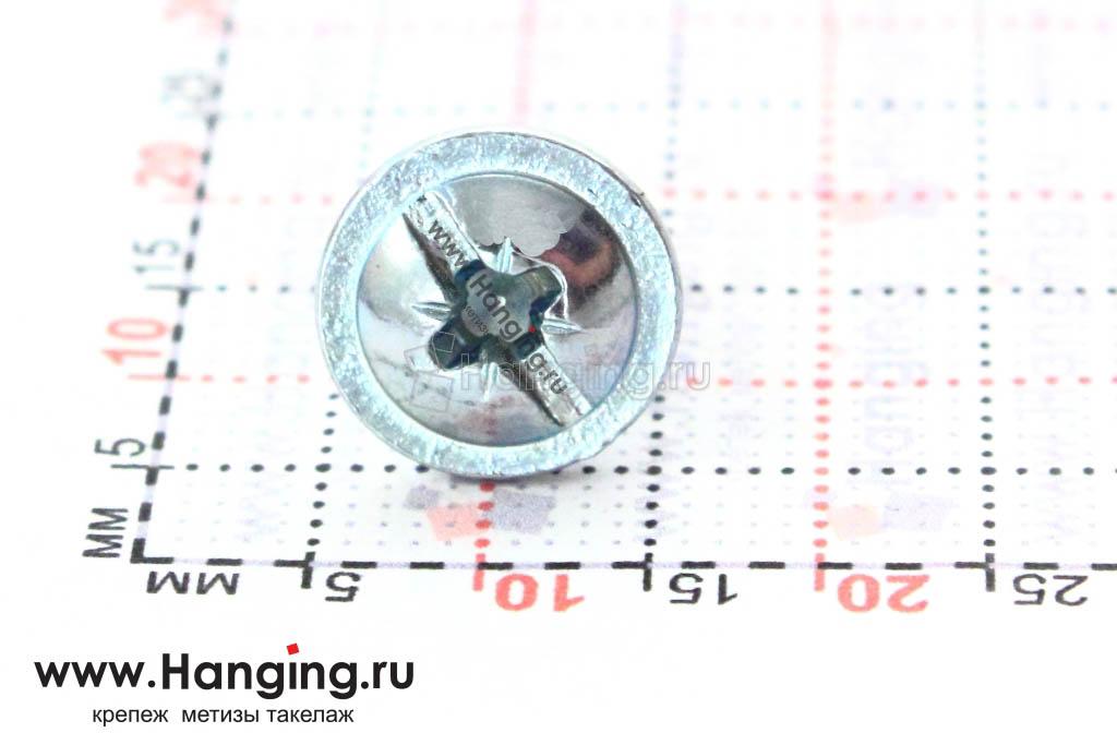 Головка с пресс-шайбой винта DIN 967 5*8