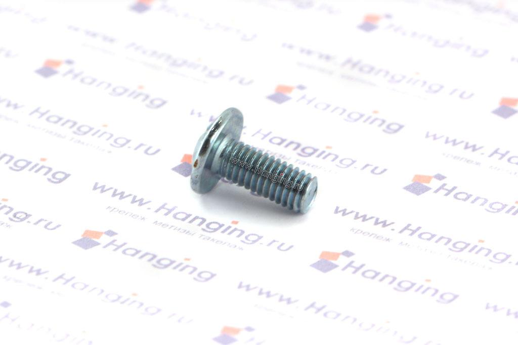 Винт с полукруглой головкой и пресс-шайбой М5х12 DIN 967