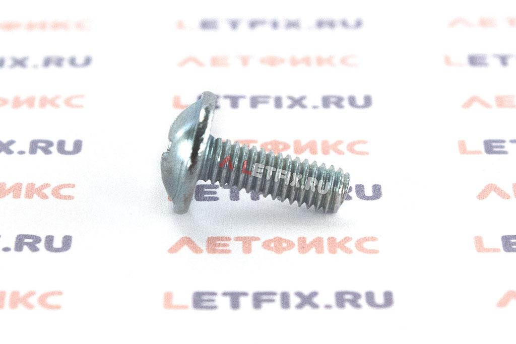 Оцинкованный винт DIN 967 М6х12 с полукруглой головкой с прессшайбой