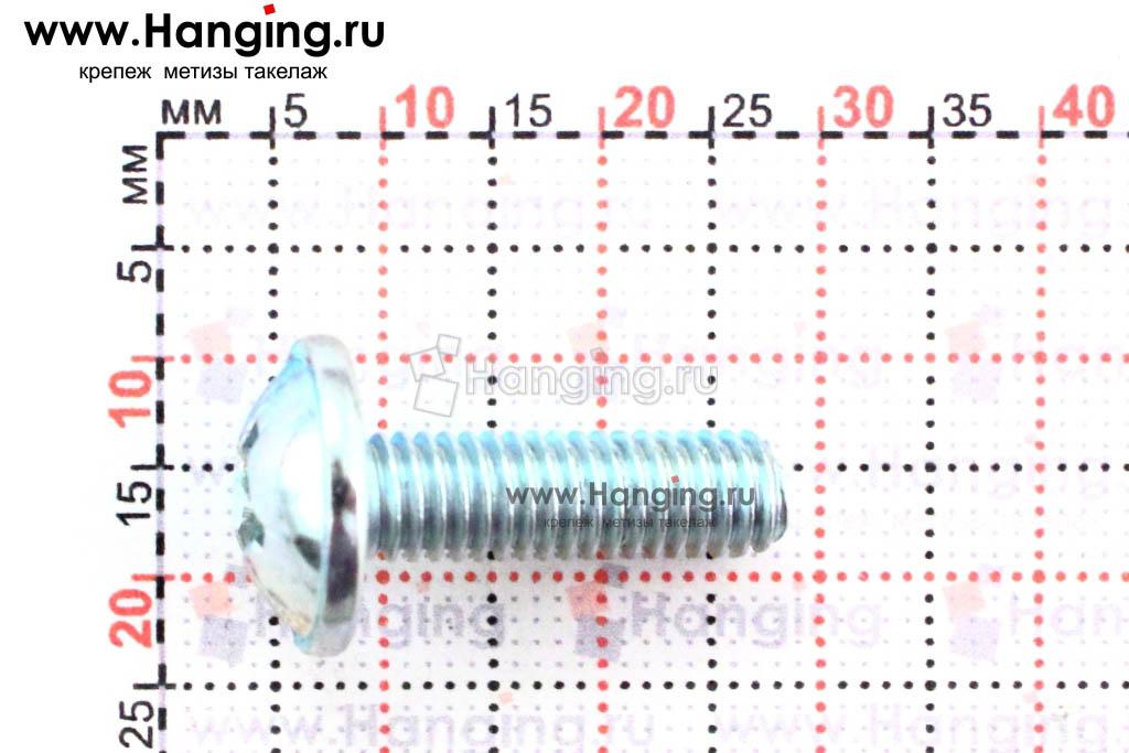 Размеры винта DIN 967 М6х20 оцинкованного