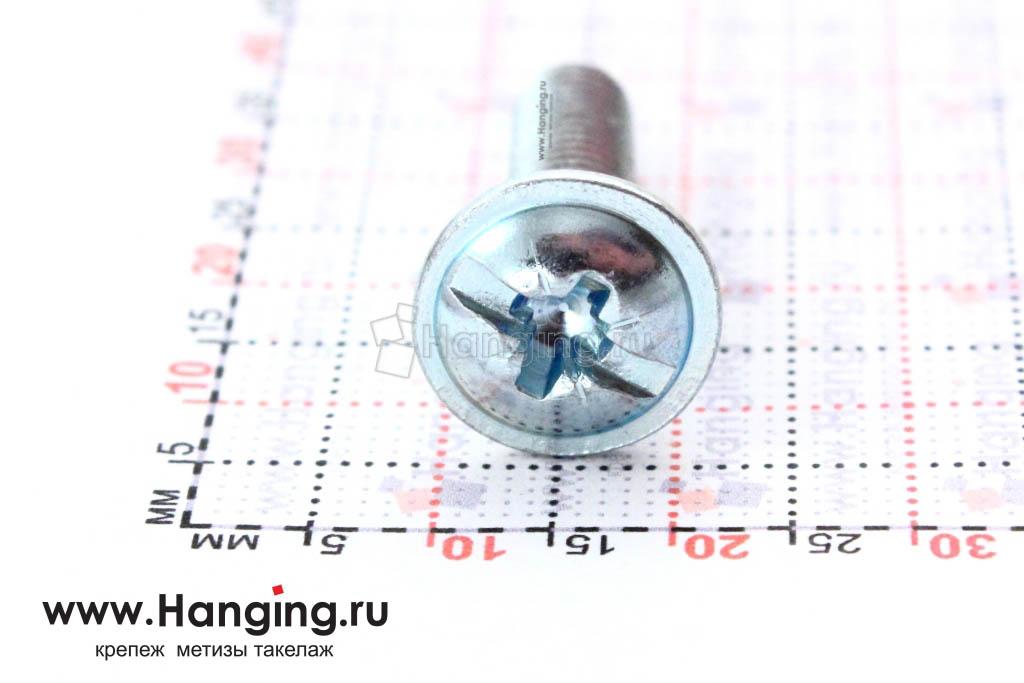 Головка с пресс-шайбой винта DIN 967 6*25