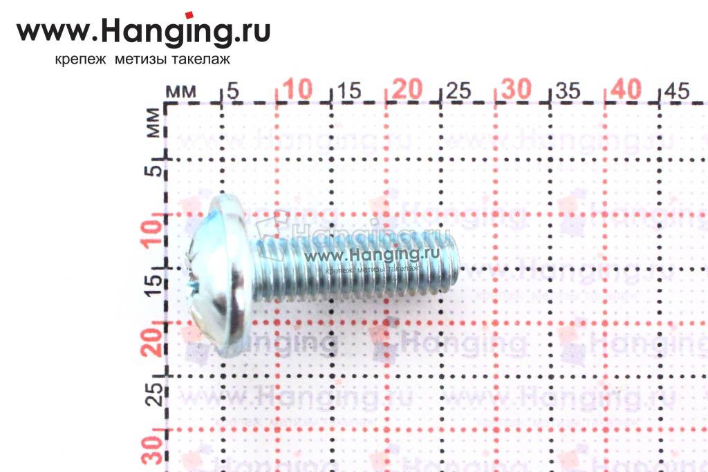 Размеры винта DIN 967 М8х20 оцинкованного