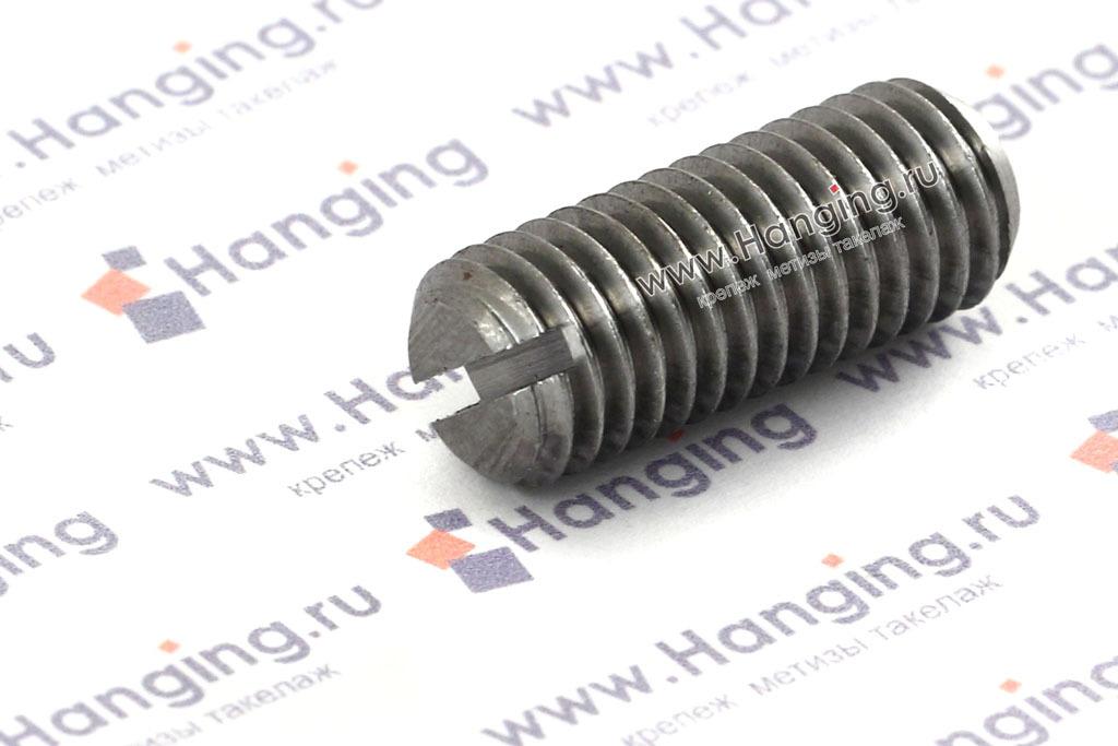 Винты М10х25 с прямым шлицем и плоским концом из стали, без покрытия, DIN 551