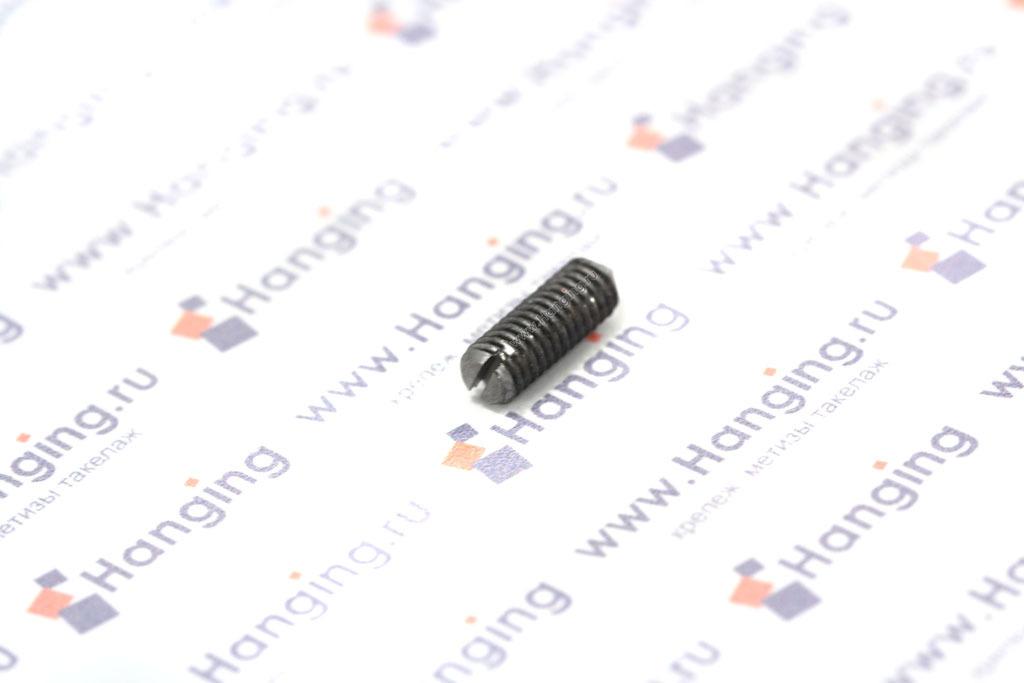 Винты М4х12 неоцинкованные с прямым шлицем и конусным наконечником из углеродистой стали DIN 553