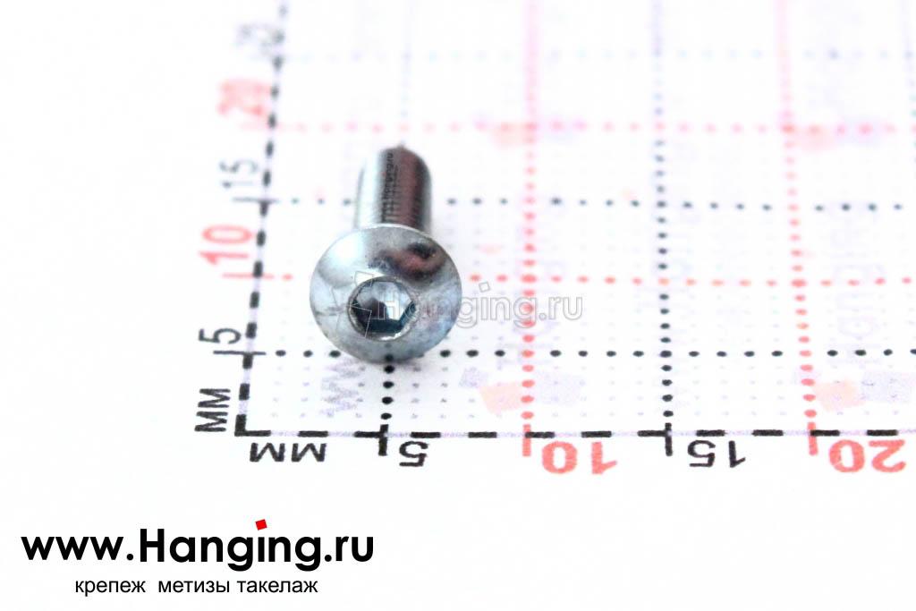 Головка винта ISO 7380 3х8 и ее размеры