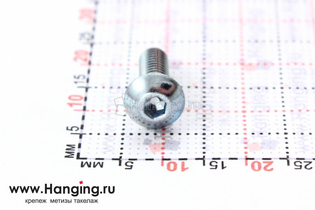 Головка винта ISO 7380 4х12 и ее размеры
