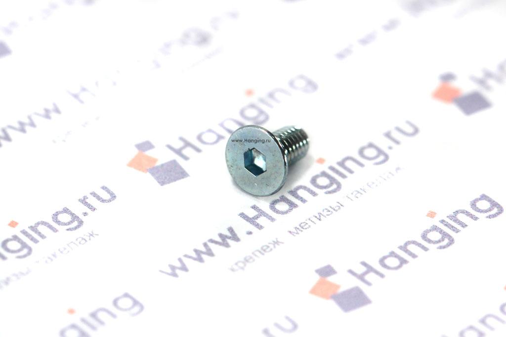 Винт с потайной головкой и внутренним шестигранником DIN 7991 М3х6