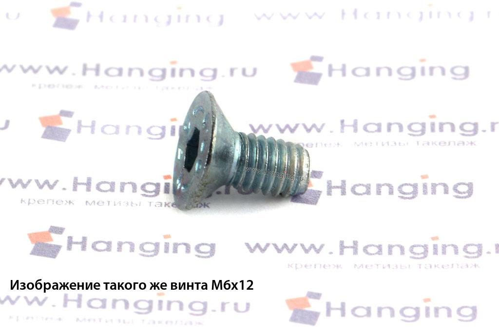 Винт DIN 7991 М6х10 оцинкованный 8.8