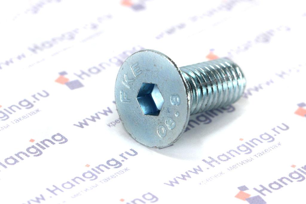 Винт с потайной головкой и внутренним шестигранником DIN 7991 М8х20