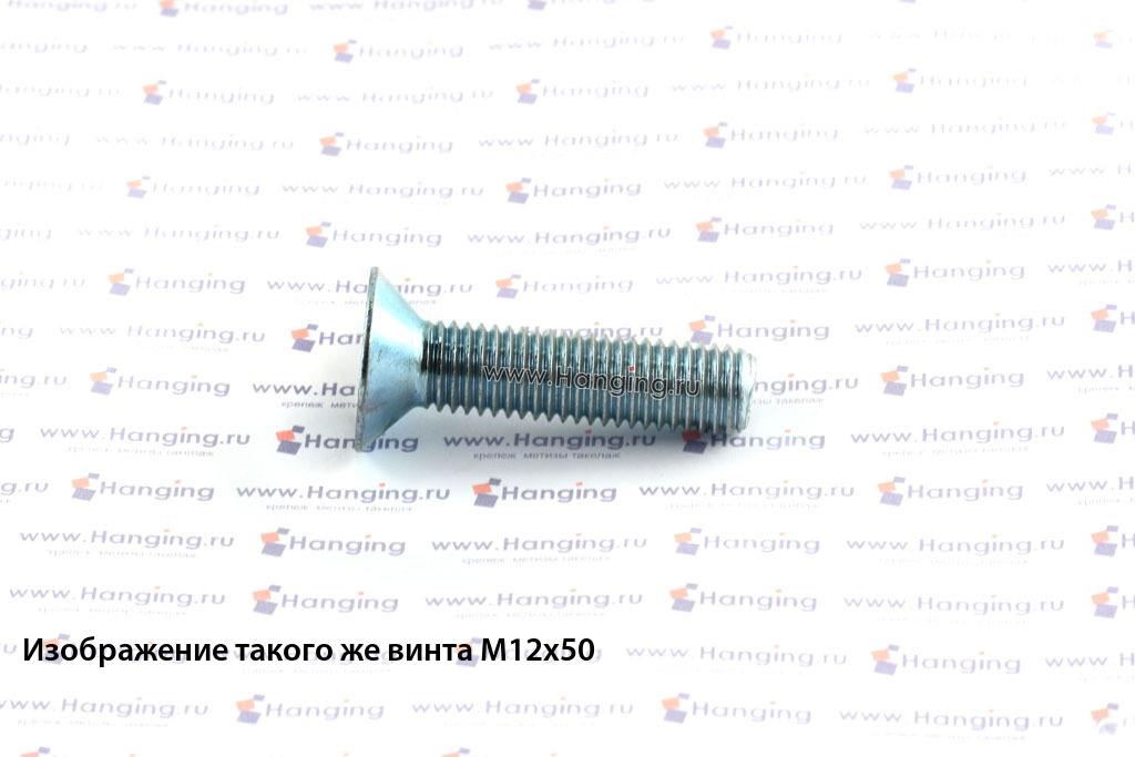 Винт DIN 7991 М10х100 оцинкованный 8.8