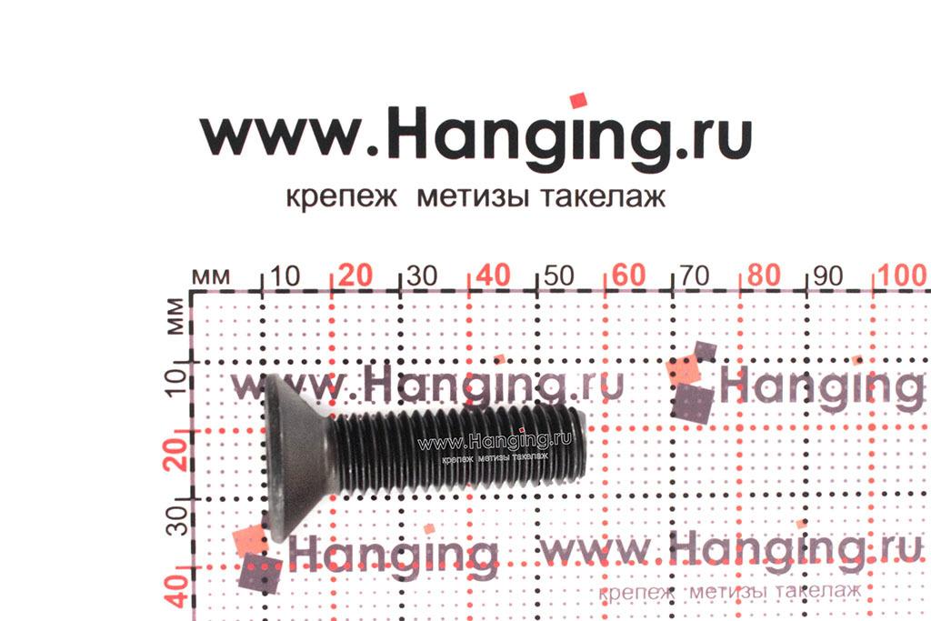 Размеры винта М12х45 DIN 7991 с потайной головкой и внутренним шестигранником