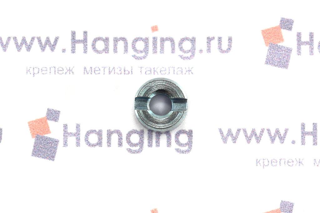 Гайки DIN 546 М3 круглые с прямым шлицем оцинкованные