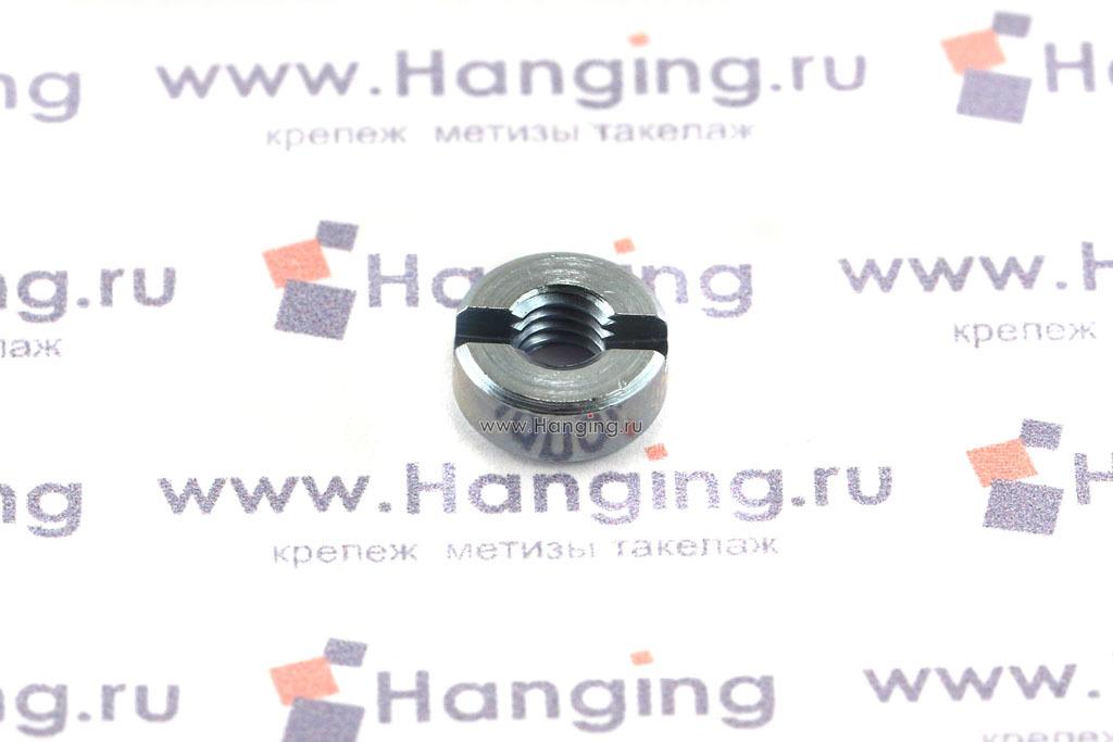 Гайки DIN 546 М4 круглые с прямым шлицем оцинкованные