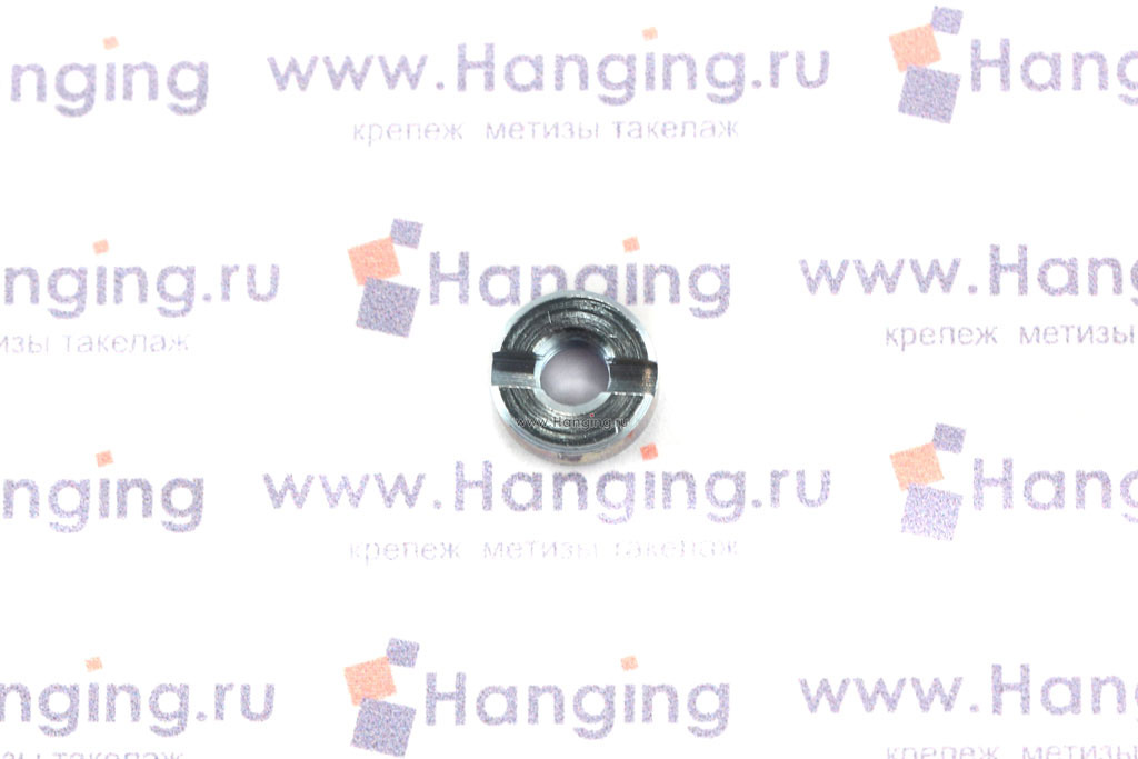 Гайки ГОСТ 10657-80 М4 круглые со шлицем на торце цинк