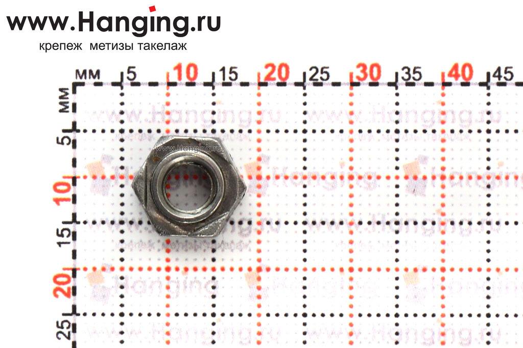 Размеры приварных гаек М6 DIN 929