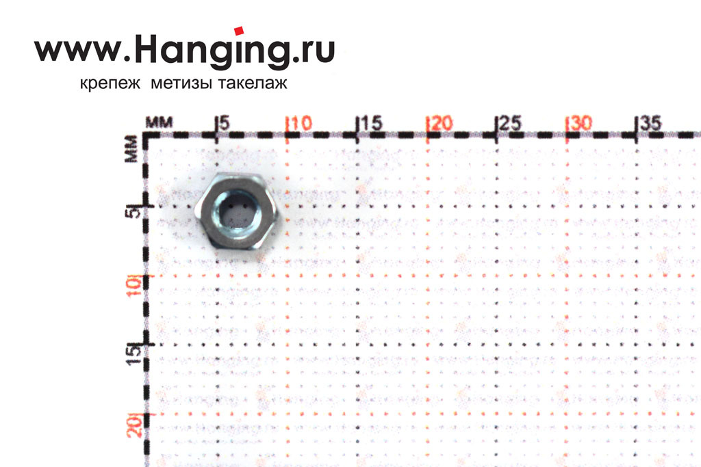 Размер гайки оцинкованной класса прочности 5 М3