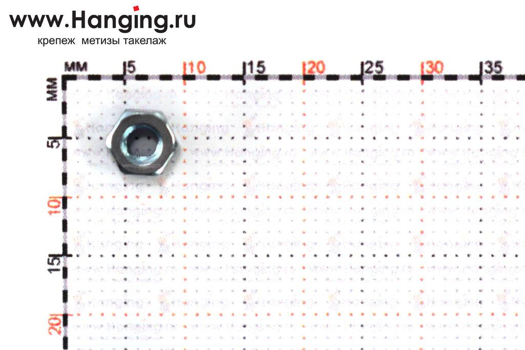 Размер гайки оцинкованной класса прочности 8 М3