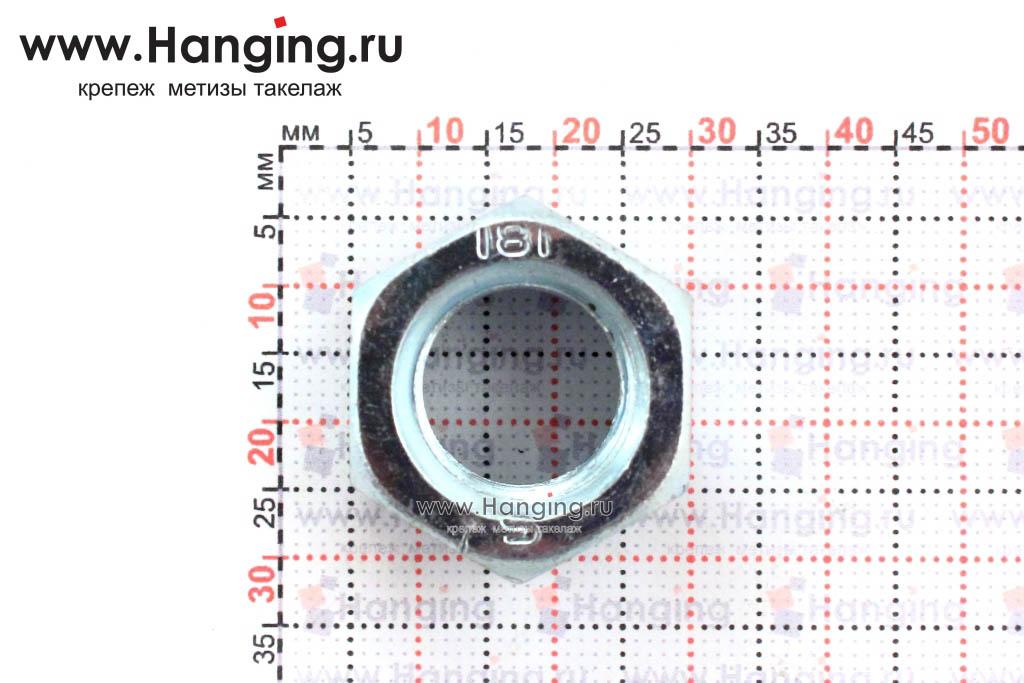 Размер гайки оцинкованной класса прочности 8 М16