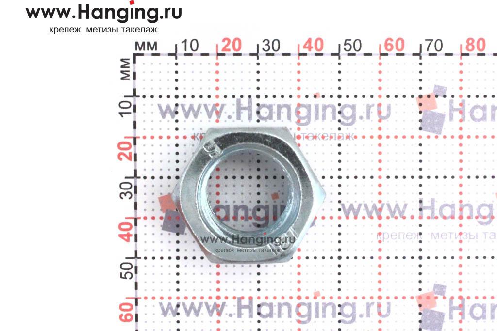 Размер гайки оцинкованной класса прочности 8 М22
