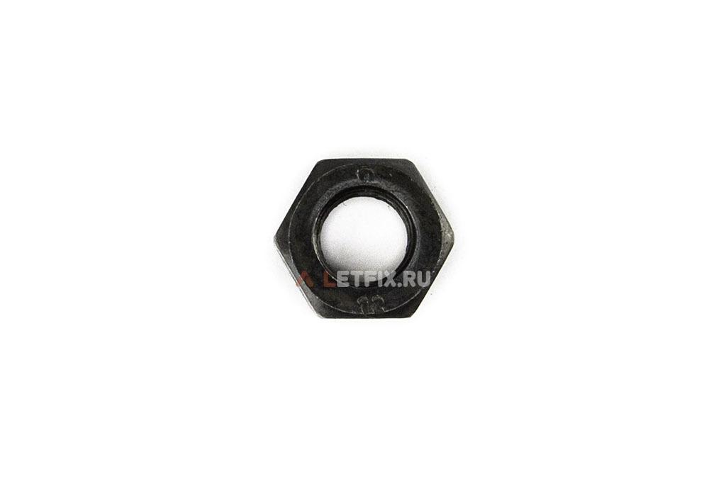 Чёрная шестигранная высокопрочная гайка М12 класса прочности 12 DIN 934, ГОСТ 5915-70, ГОСТ 5927-70, ГОСТ ISO 4032-2014, ГОСТ ISO 4034-2014, ISO 4032, ISO 4034