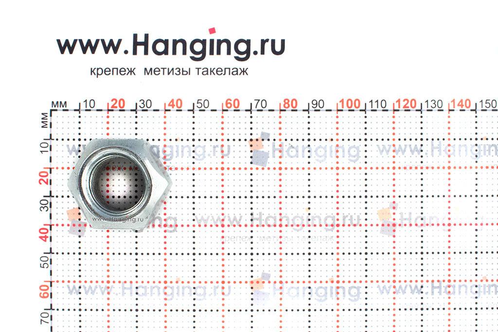 Размеры шестигранной самоконтрящейся гайки М20 DIN 980