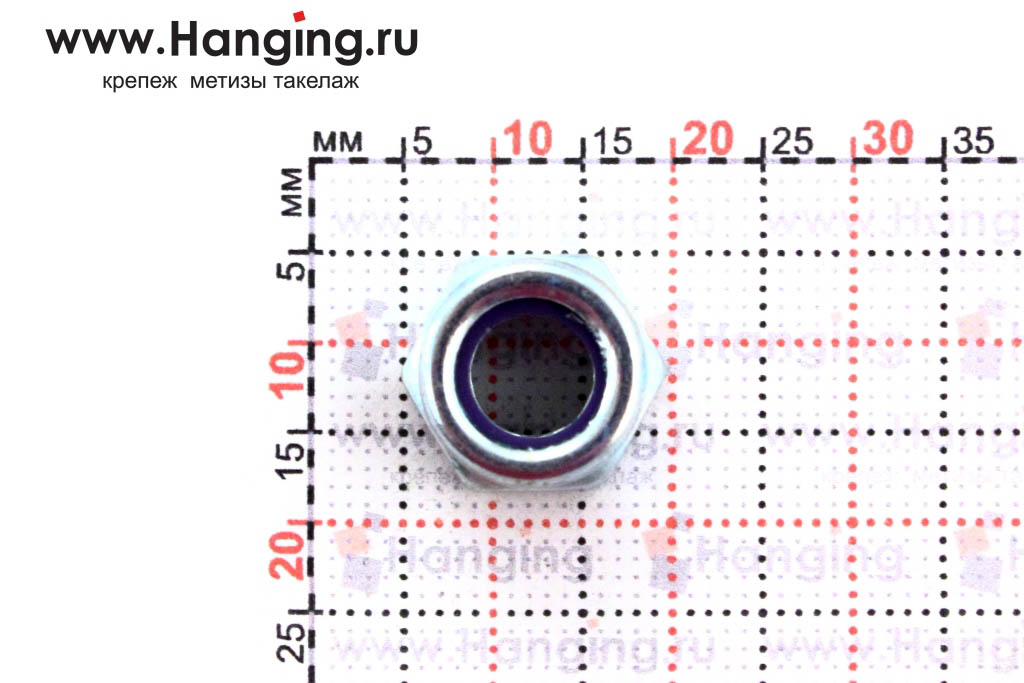 Высота гайки DIN 985 М8