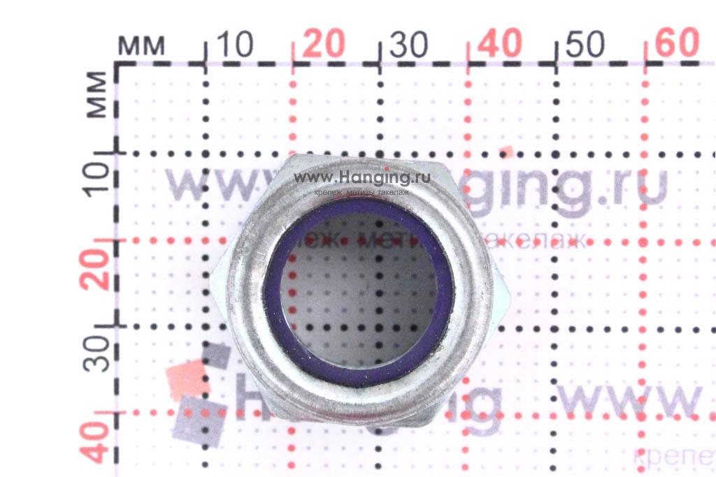 Размеры оцинкованной гайки М20 самоконтрящейся DIN 985