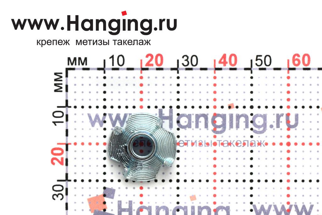 Размеры гайки врезной М6 DIN 1624