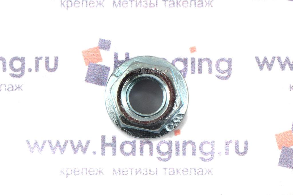 Фланцевая гайка DIN 6923 М5 оцинкованная