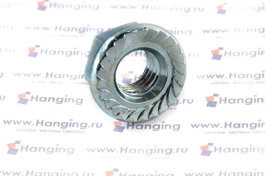 Оцинкованная фланцевая гайка DIN 6923 М14