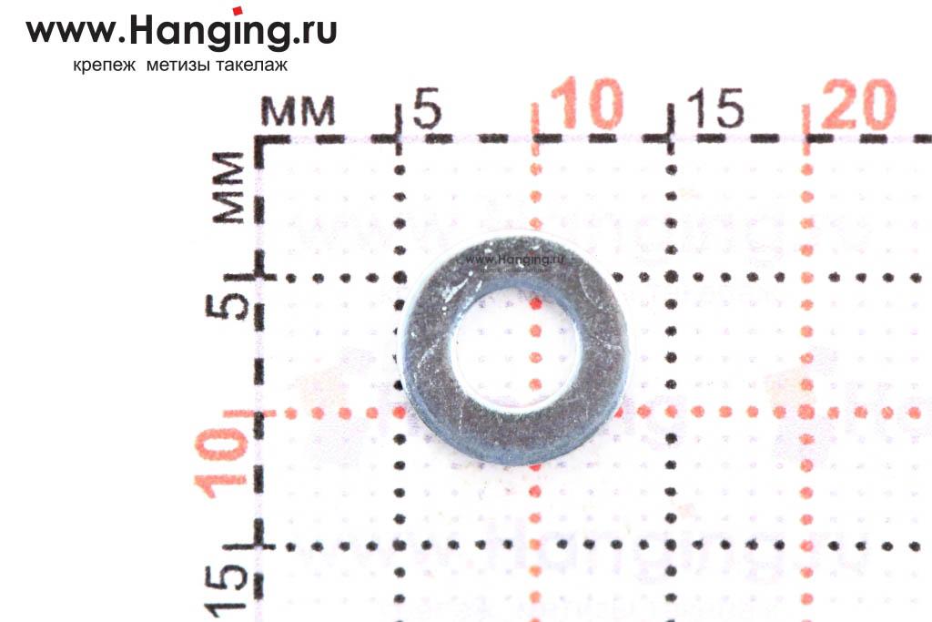 Размеры отверстия и шайбы М4