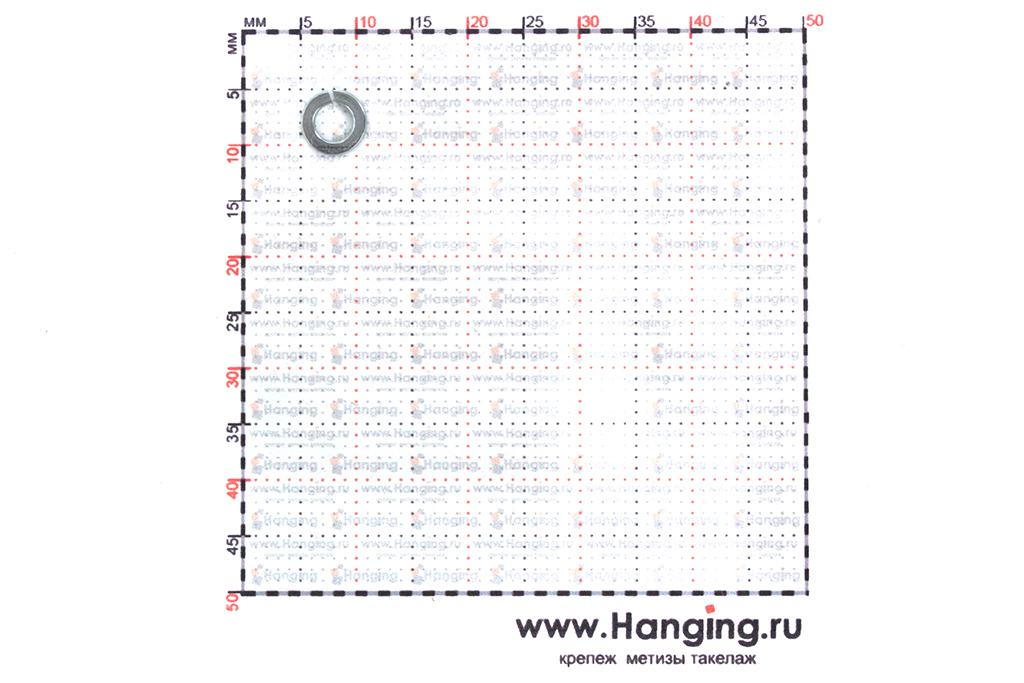 Размеры шайбы Гровера М3 цинк