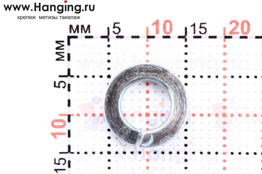 Размеры шайбы Гровера М6 цинк